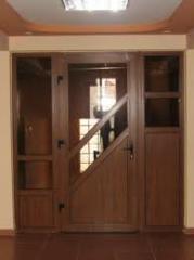 Двери ПВХ -  золотой дуб , купит входные двери в