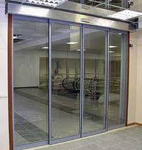 Doors are glass sliding