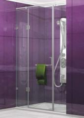 Stylish shower cabin from glass for the house