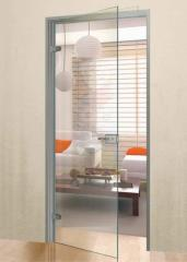 Stylish interroom door from glass