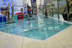 Transparent glass floor for the house, restaurant,