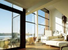 Noise-protective double-glazed windows