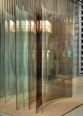 Glass bent for registration of interiors