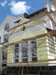 Action!!! Warming! A facade from polyfoam! Design