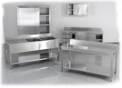 Mobila din inox, Furniture from stainless steel,