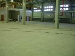 Coverings of floors from polymeric tiled materials