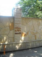 The stone is natural finishing, Piatra naturala in