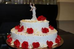 Wedding biscuit cake in Chisina