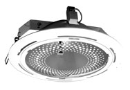 The DownLight DL 9006-F lamp under a halogen lamp