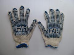 Перчатки хлопчатобумажные рабочие ФАРА