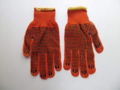 Перчатки рабочие хлопчатобумажные оранжевые