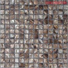 Mosaic from natural nacre. Nacreous mosaic
