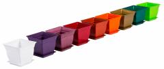 Вазон №1-3 квадратный одноцветный