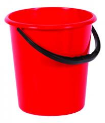 Bucket with the plastic handle