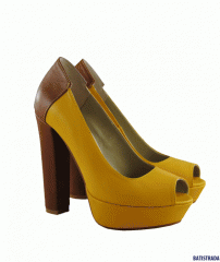 Туфли BATISTRADA из натуральной кожи желтые