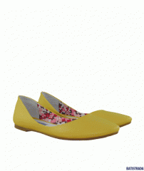 BATISTRADA flats from genuine leather yellow