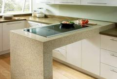 Table-tops from an artificial stone