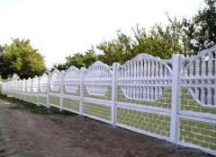 Fences concrete decorative to order