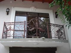 Balaustrata per balcone in casa privata
