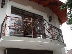 Кованый металлический балкон 6