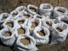Sand in bags