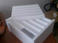 Boxes of polyfoam