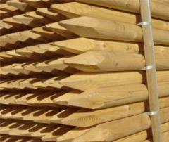 Stakes wooden