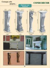 Portal for a fireplace decorative