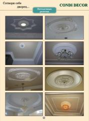 The ceiling socket (medallion) for decorative