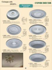 Refined ceiling socket (medallion)
