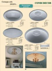 The refined ceiling socket (medallion) for an