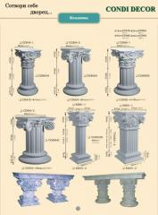 Column decorative for refined registration of an