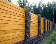 Fences made of wood
