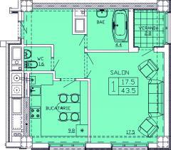 Новострой в Кишиневе Квартиры 1- комнатные