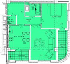 Квартиры 2-х комнатные  Apartament 12