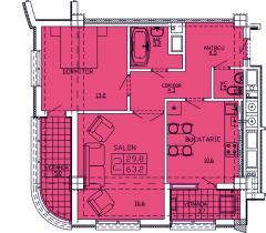 Квартиры 2-х комнатные  Apartament 25