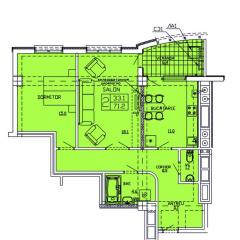 Квартиры 2-х комнатные   Apartament 27