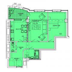 Квартиры 2-х комнатные   Apartament 40