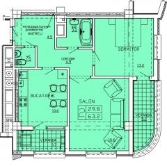 Квартиры 2-х комнатные   Apartament 42