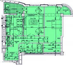 Apartments 2-roomed Apartament 52