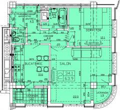 Apartments 2-roomed Apartament 54
