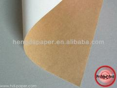 Coated cardboard with Kraft turn (special design