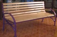 Скамейка со спинкой L=2000, тип 1