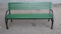 Скамейка со спинкой L=2000, тип 7