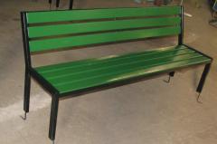 Скамейка со спинкой L=1800, тип 8
