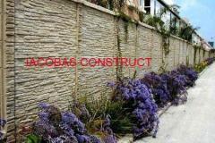 Gard din beton, gard decorativ, sectii de...