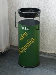 Ballot box office round with an ashtray