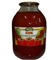 Natural tomato juice