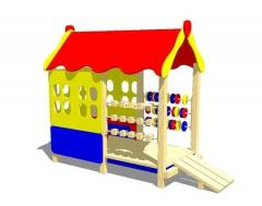 Children's game lodge two-section