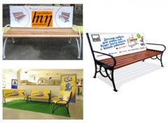 Advertizing benches